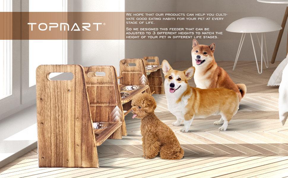 Topmart Elevated Dog Bowls