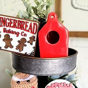 Mini Red Birdhouse