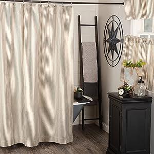 Katie's Vintage Stripe Shower Curtain