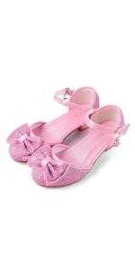 pink princess shoe
