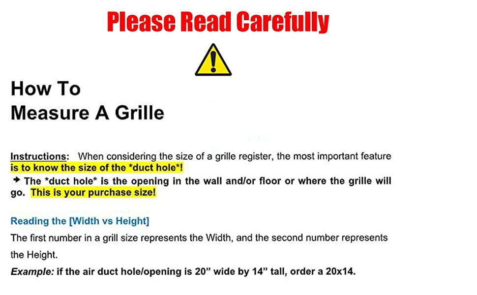 hvac premium register grille