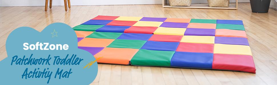 softzone, toddler blocks, ecr4kids, activity mat, infant, gross motor, playset, stacking, building