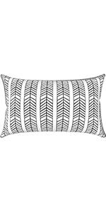 LVTXIII outdoor lumbar pillow covers waterproof 12x20 patio furniture decorative lumbar cushion case