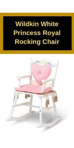 Wildkin White Princess Royal Rocking Chair