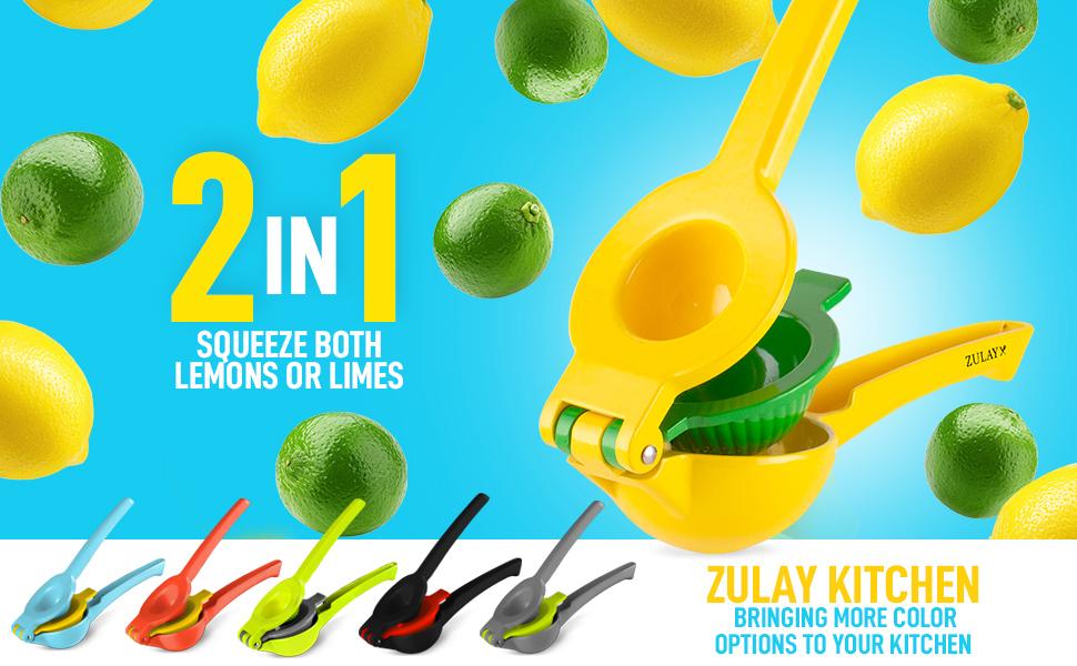 lemon squeezer zulay kitchen citrus juicer manual press lime orange fruit home outdoor juice
