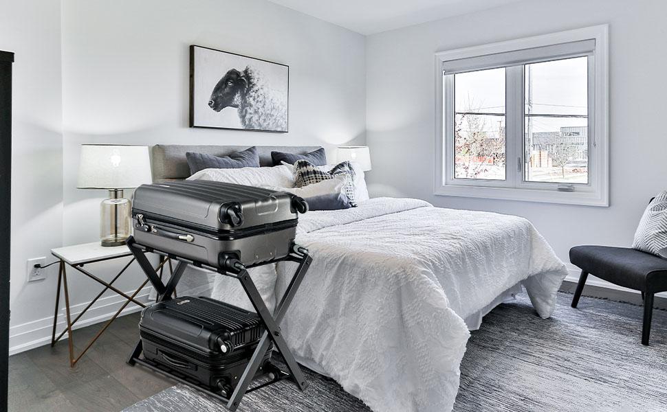 folding metal luggage holder suitcase rack