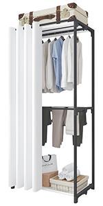 Porte-vêtements à 3 niveaux noir