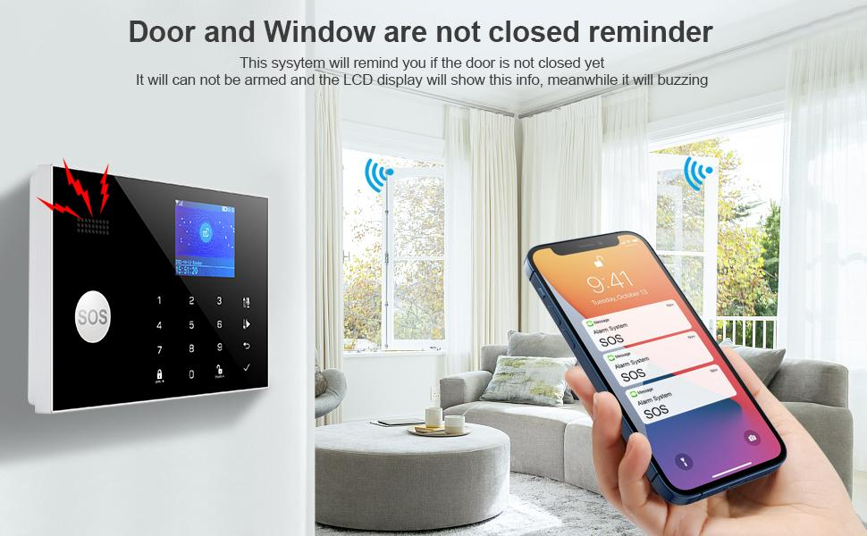 security alarm system gsm wireless 4g 3g home house