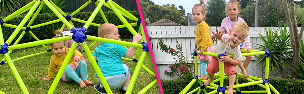 kids playing on structure