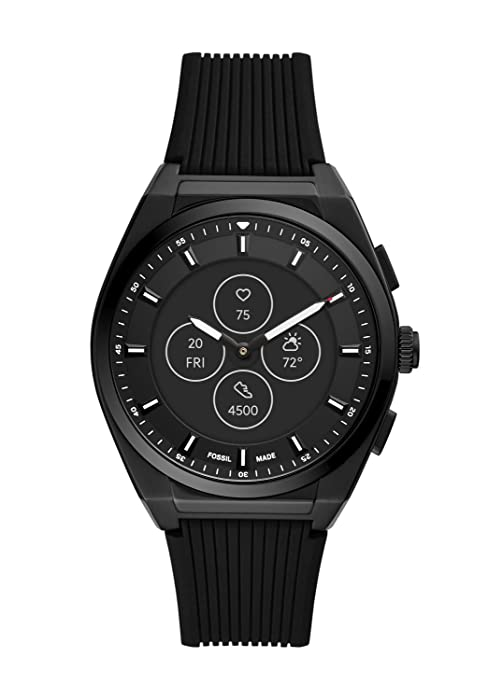 Fossil Hybrid HR Smartwatch - Everett Black Silicone