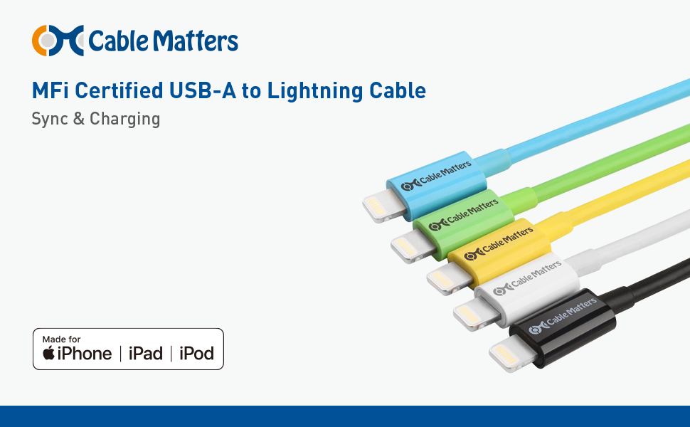 MFi Certified USB-A to Lightning Cable