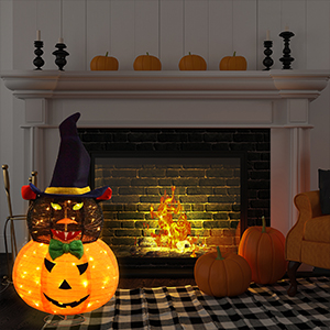 Halloween Decoration at the Fireplace