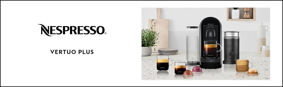 Machine à café Nespresso Vertuo Plus noir mat, 1.8L, Krups YY3922FD