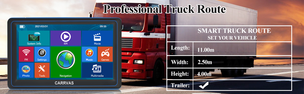 Professional Truck Route