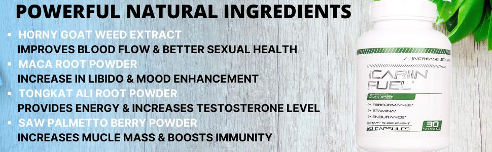 ICARIIN FUEL HORNY GOAT WEED COMPLEX FOR MEN AND WOMEN
