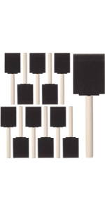 Bates- Foam Paint Brushes, 16pcs, 2 Inch,