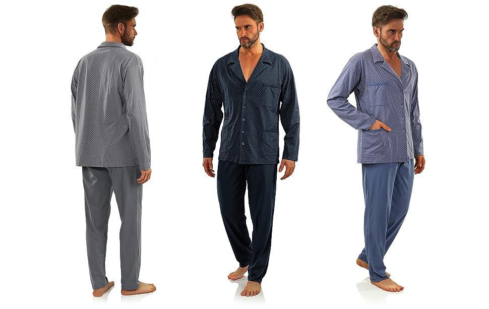 pijama buttons para hombre