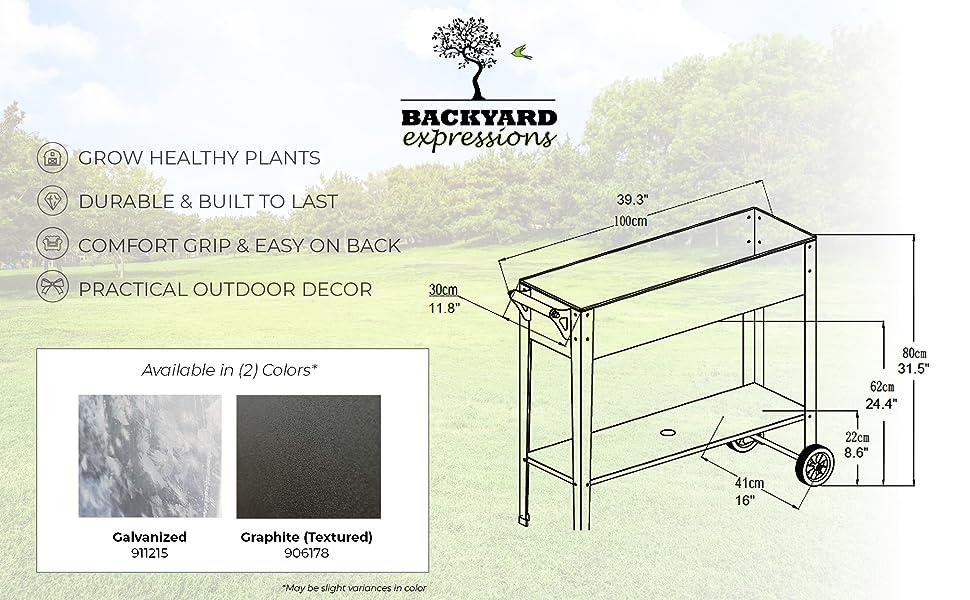 elevated planter box flower bed gardening garden raised backyard expression steel galvanized