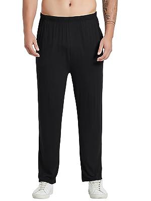 black pajama bottoms mens