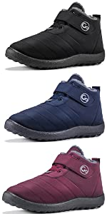 Winter Snow Boots for Women Waterproof Anti Slip Ankle Booties Warm Fur Lined Short Boots