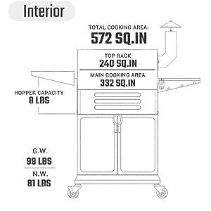 wood pellet grill ZPG-10002B