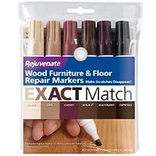 Rejuvenate 6pk EXACT Match Natural Wood Furniture amp;amp;amp;amp;amp; Floor Repair Markers