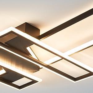 Plafonnier aluminium/cadre en fer