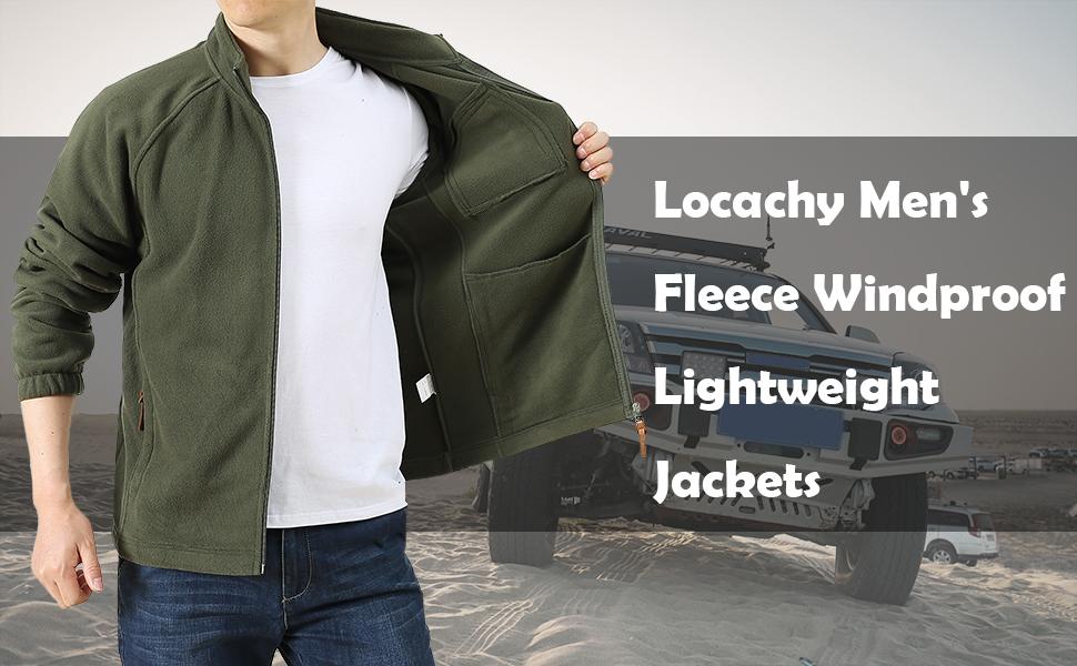 Men's Soft Lightweight Outdoor Fleece Jacket