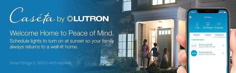Lutron, Lutron Caseta, smart home, smart light, led smart, smart plug, outdoor smart, smart house