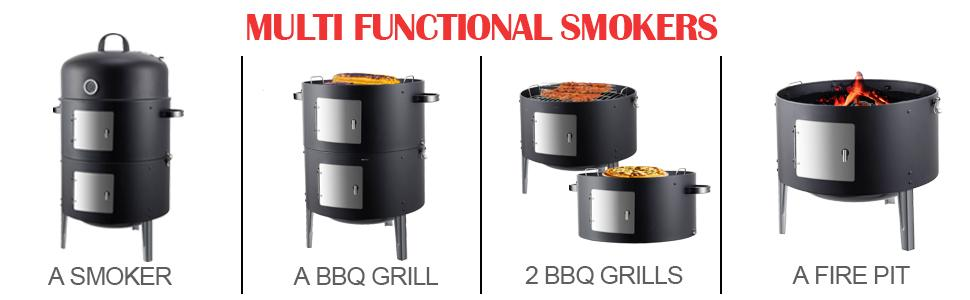 Realcook Multi-Functional Vertical Smoker