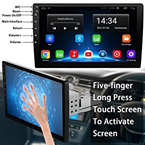 10.1 inch single din touch screen 1 din stereo