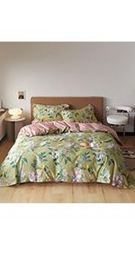 cotton floral duvet cover sets