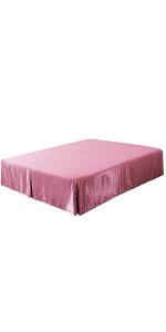 pink satin bed skirt