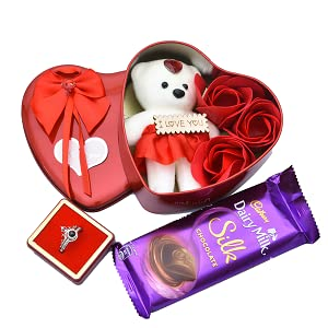 Nutri Miracle Wooden Gift Basket with Heart Shape Box