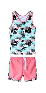 girls swimsuit two piece tankini