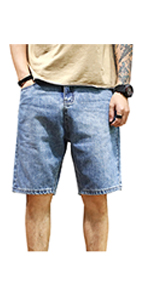mens jeans short relaxed fit comfort casual denim regular seat thigh convenience pockets baggies