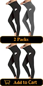 2 Packs Yoga Pants for Women with Pockets