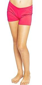 Girlamp;#39;s Nylon Spandex Stretch Booty Shorts