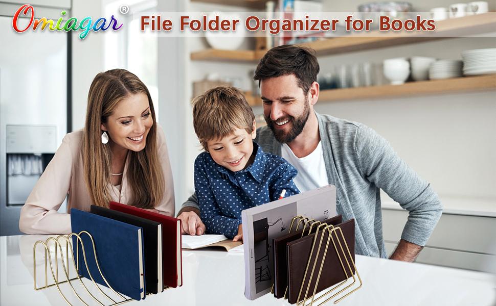 9 slot vertical desktop files folder book shelf for indoor office home photography fashion props