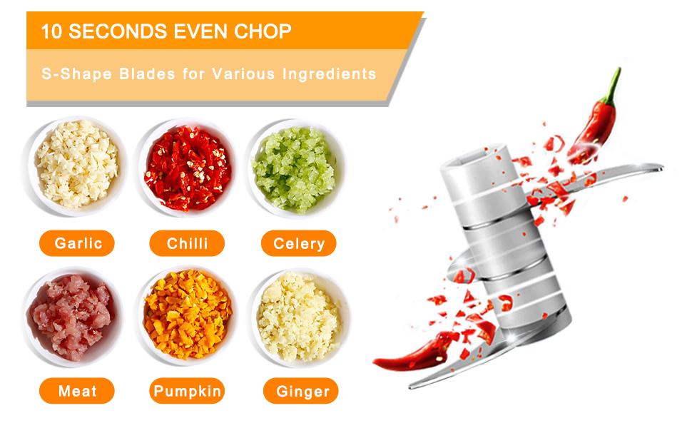 10 seconds even chop