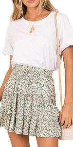 Ruffle skirt green