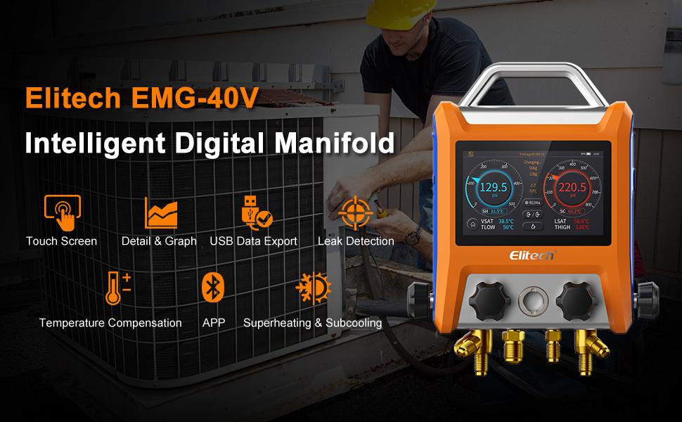 EMG-40V HVAC Digital Manifold