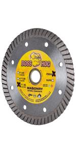 boss hog turbo diamond blade masonry concrete cutting 4 inch