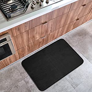 black bath rug