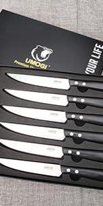 steak knives set of 4 black 300