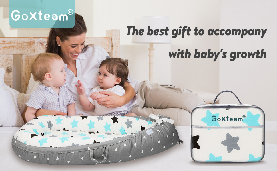 GoXteam's baby nest for newborn and infant as gift for mom