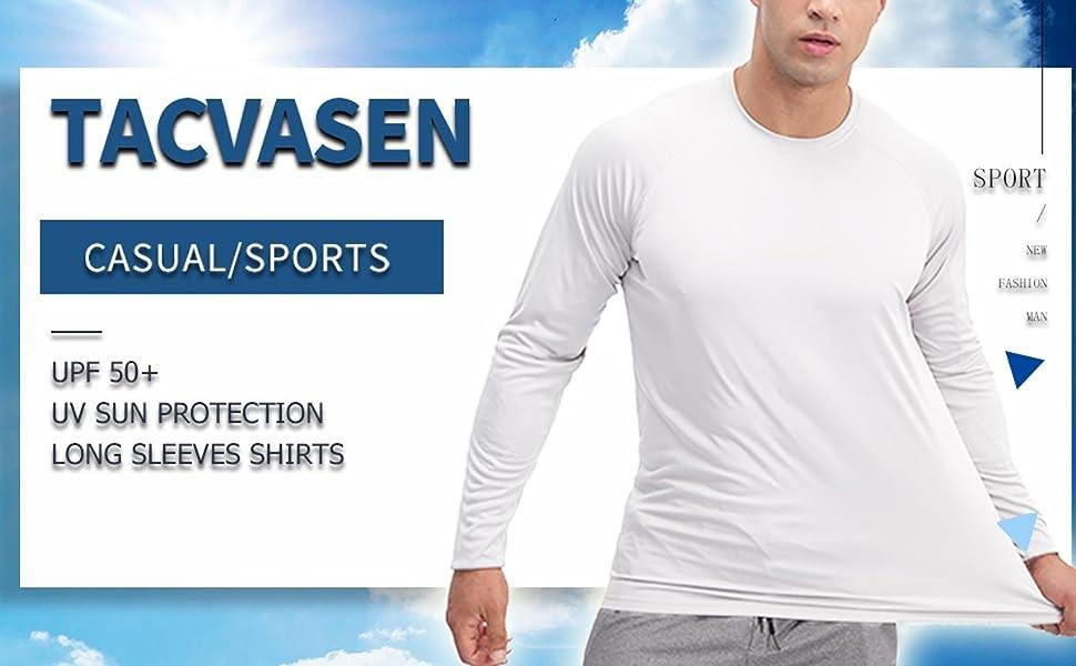 mens athletic UPF 50+ uv protection sun shirts long sleeve summer quick dry