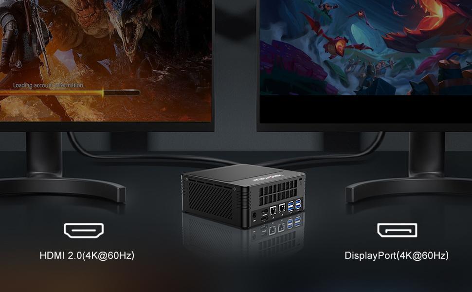 dual screen 4k mini pc