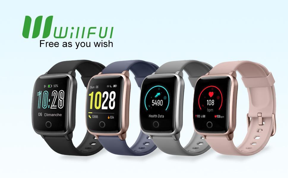 Willful Smartwatch Orologio Fitness Uomo Donna Fitness Tracker con Cronometro ECG Notifiche Messaggi
