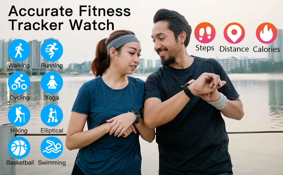 fitness tracker smart watch for Android Phones and iOS Phones